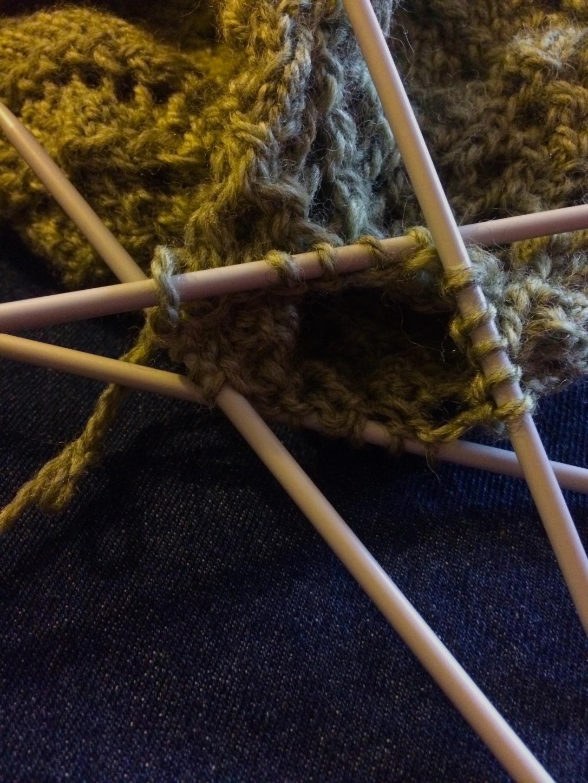 Bonnet spirales début