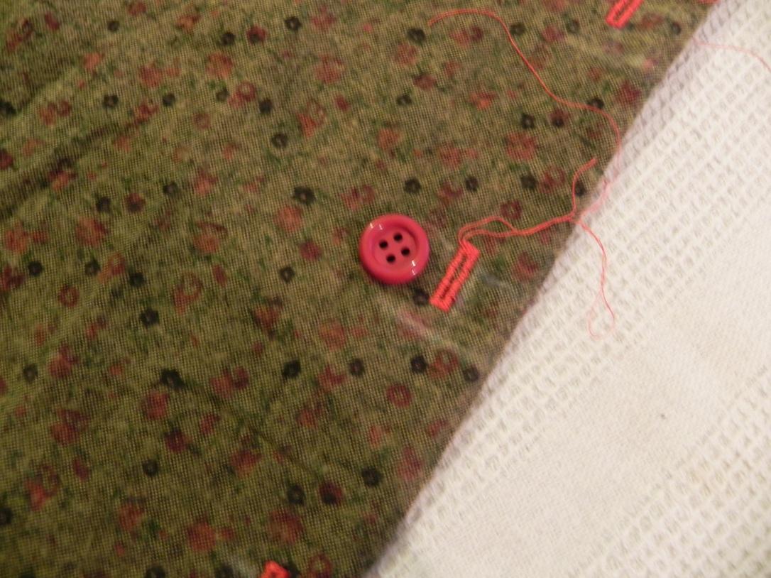 Boutonnière et bouton test taille