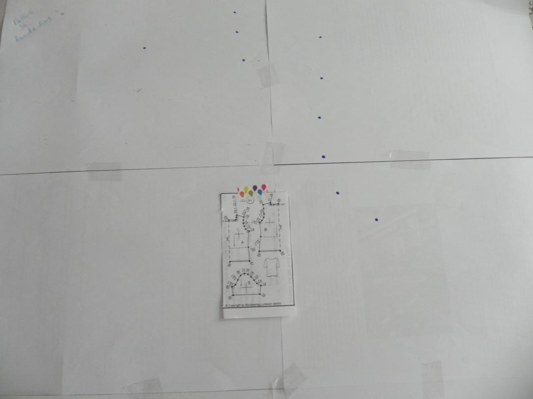 Un exemple de tracé de patron