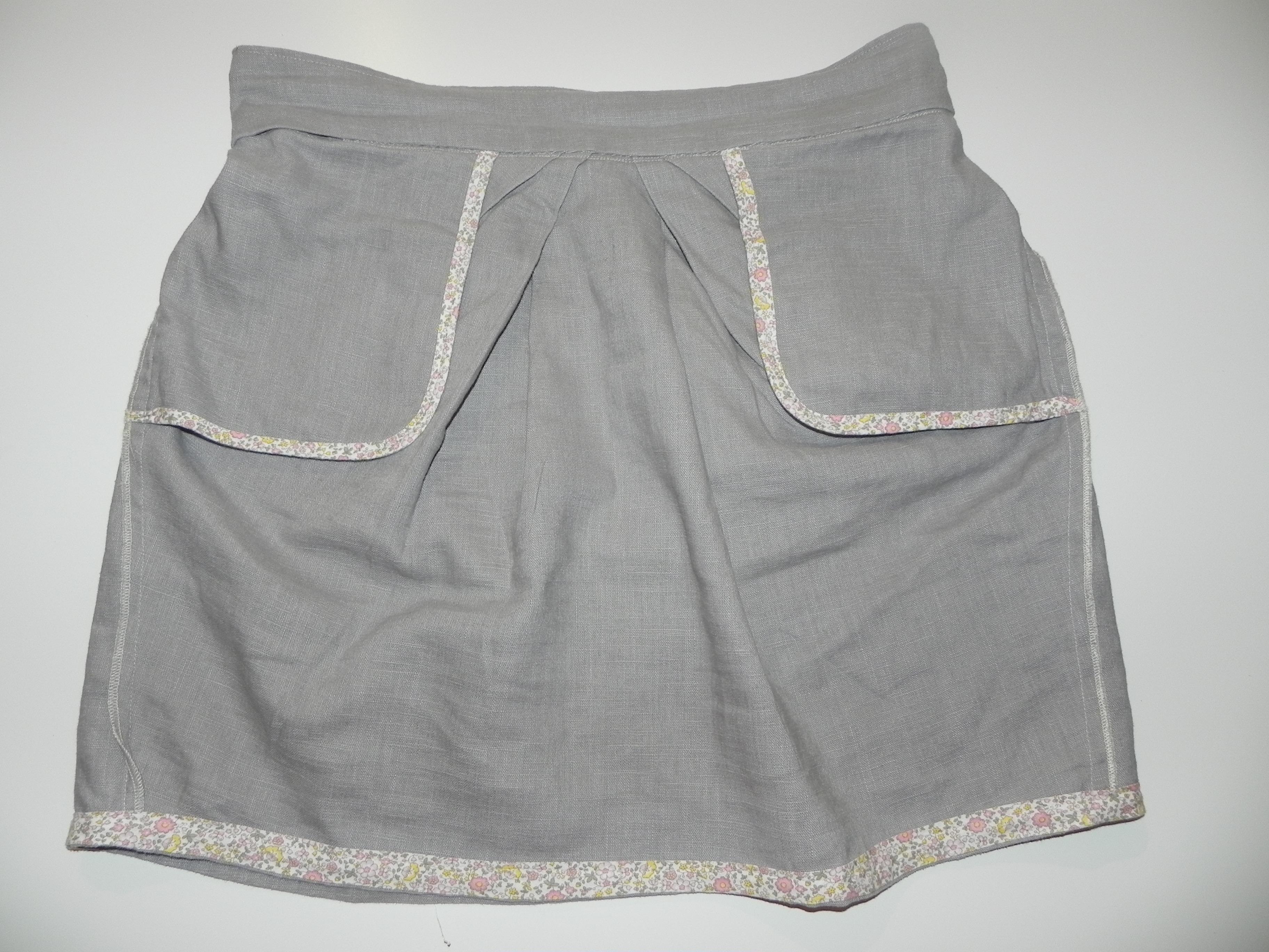 Intérieur de la jupe 1001 en lin