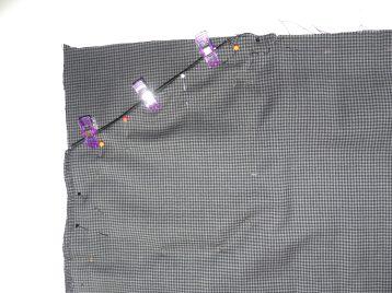 Détail poches rattrapées 1001 perles