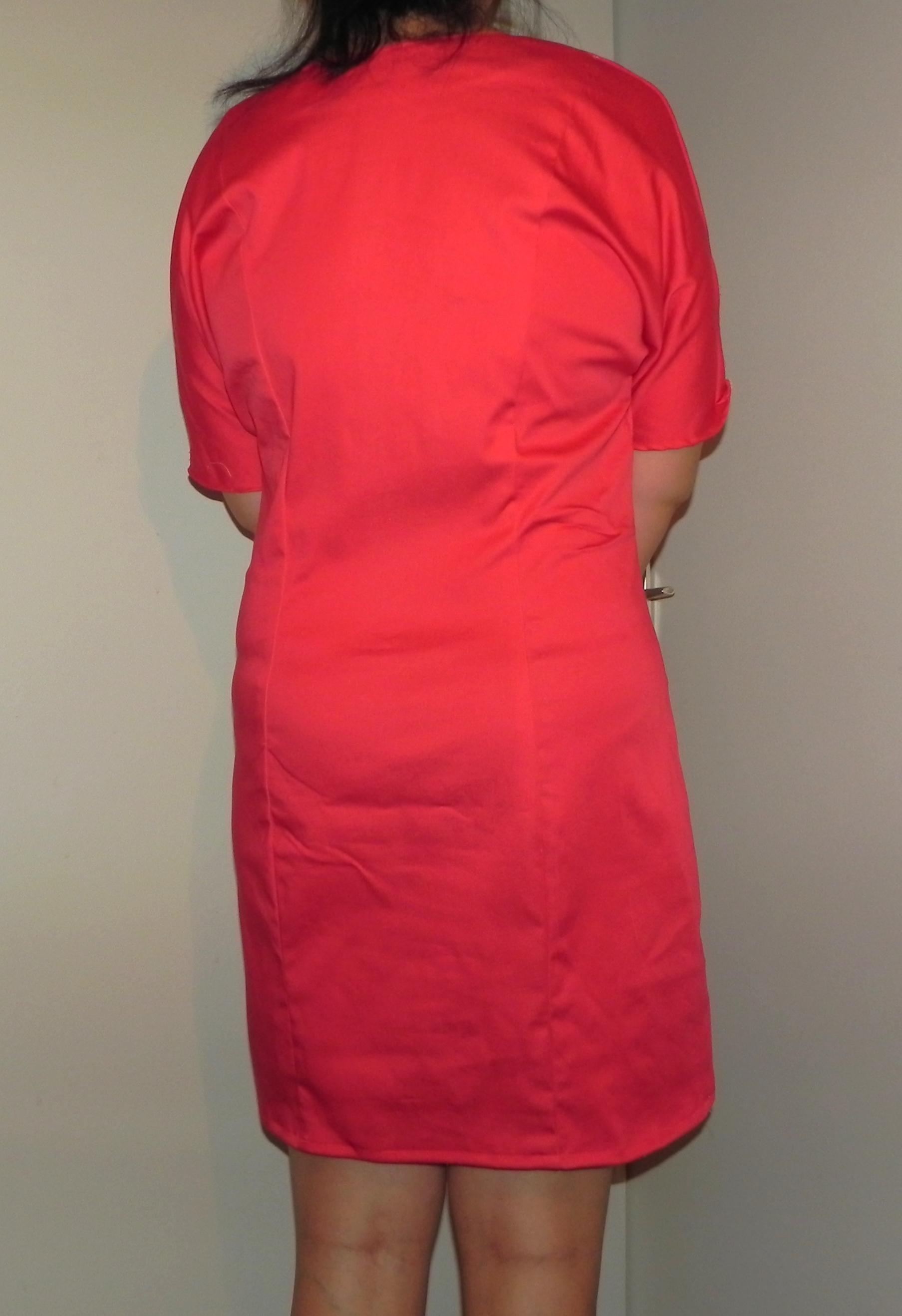 Robe Arum rouge de dos